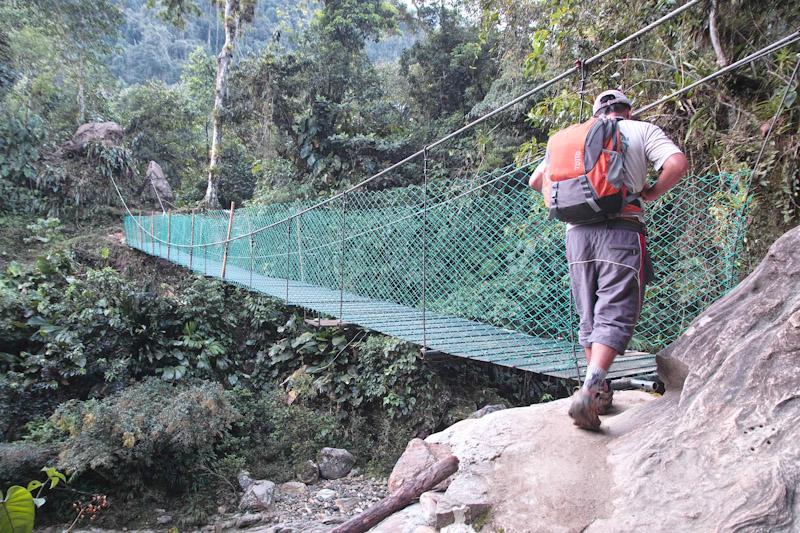 Bridge on the Ciudad Perdida Hike